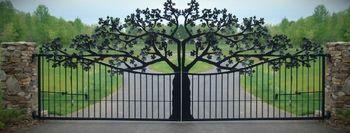 Ворота - лазерная резка